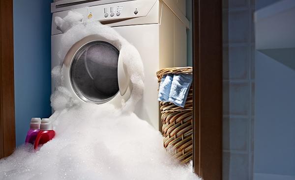 regular detergent in an HE washer